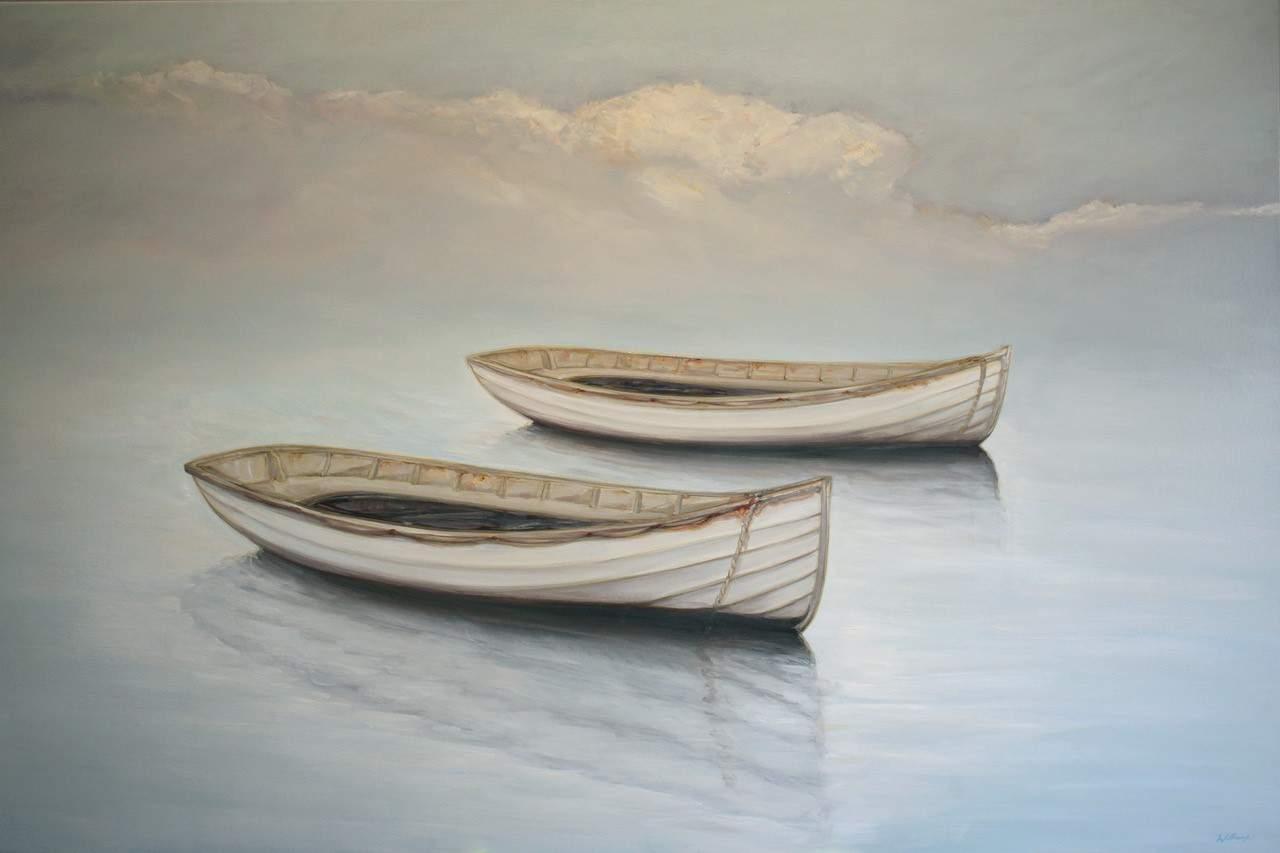 australian artist, boat painting