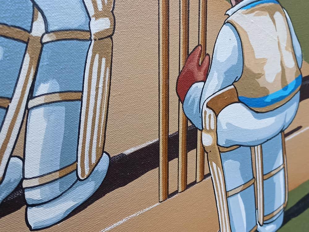 james willebrant AUSTRALIAN ARTIST- ORIGINAL ARTWORKS cricket