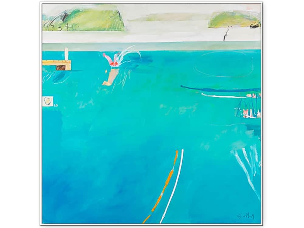 phil-stallard---jetty-jumping-150-X-150cm-oil-on-canvas-framed