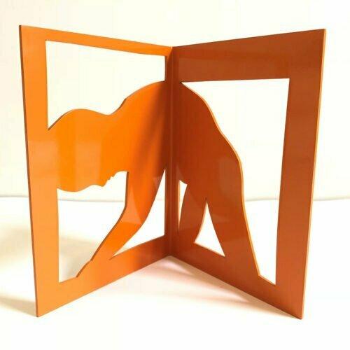 At-the-Windowsill-25x41cm-POWDER-COATED-STEEL-stainless-steel-tabletop-Charles-blackman-australian-sculpture.jpg