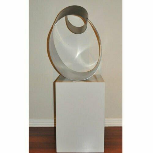 Canberra-75x50cm-STAINLESS-STEEL-free-standing-mike-baird-australian-indoor-sculpture