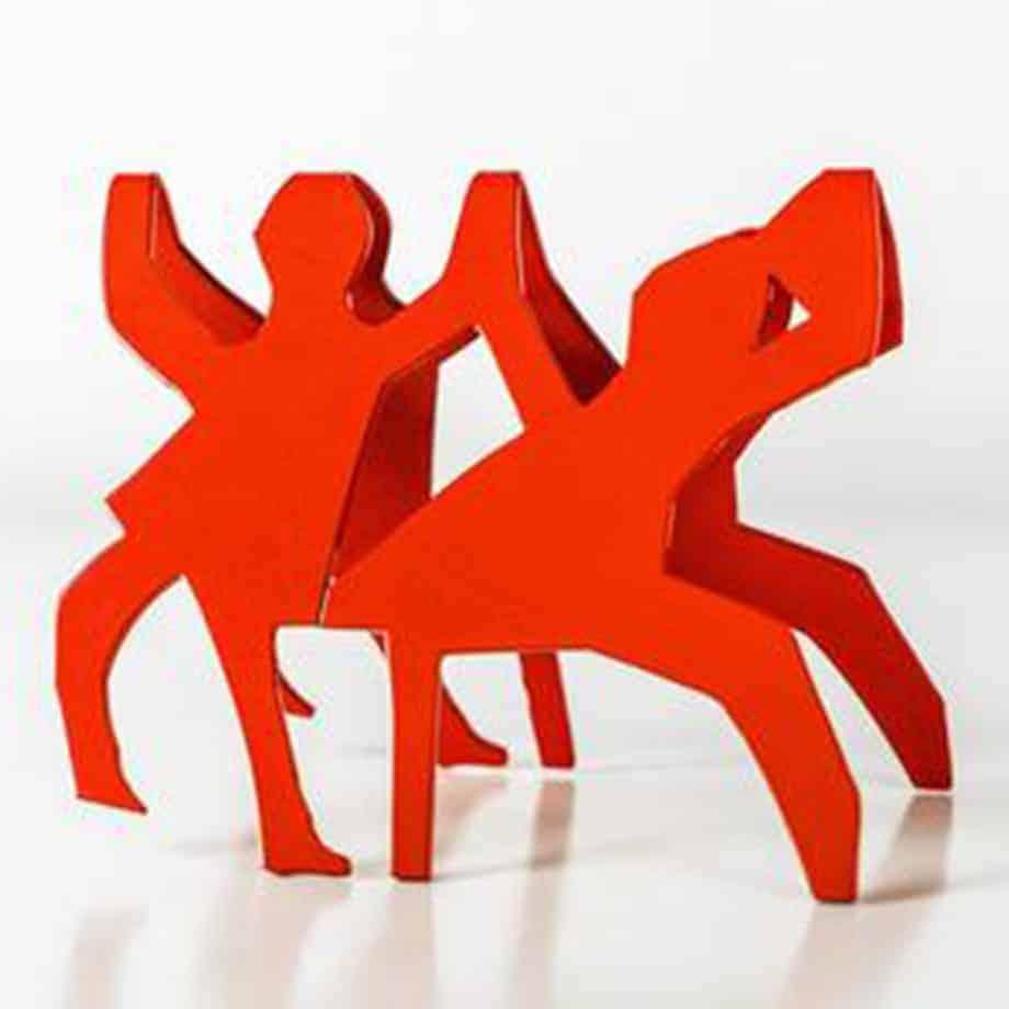 Danseusese-13x16cm-POWDER-COATED-STEEL-stainless-steel-tabletop-Charles-blackman-australian-sculpture.jpg