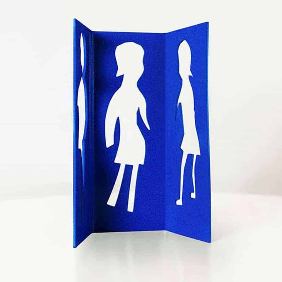 Forever--Girls-1of9--200x160cm-POWDER-COATED-STEEL--[stainless-steel,-Outdoor]-Charles-blackman-australian-sculpture