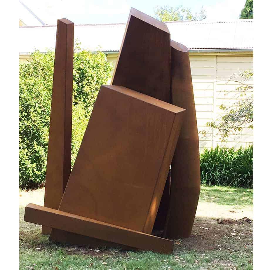 The-Descending-Mountain--CORTEN-STEEL-[corten,outdoor,landmark]-Linda-bowden-large-australian-sculpture