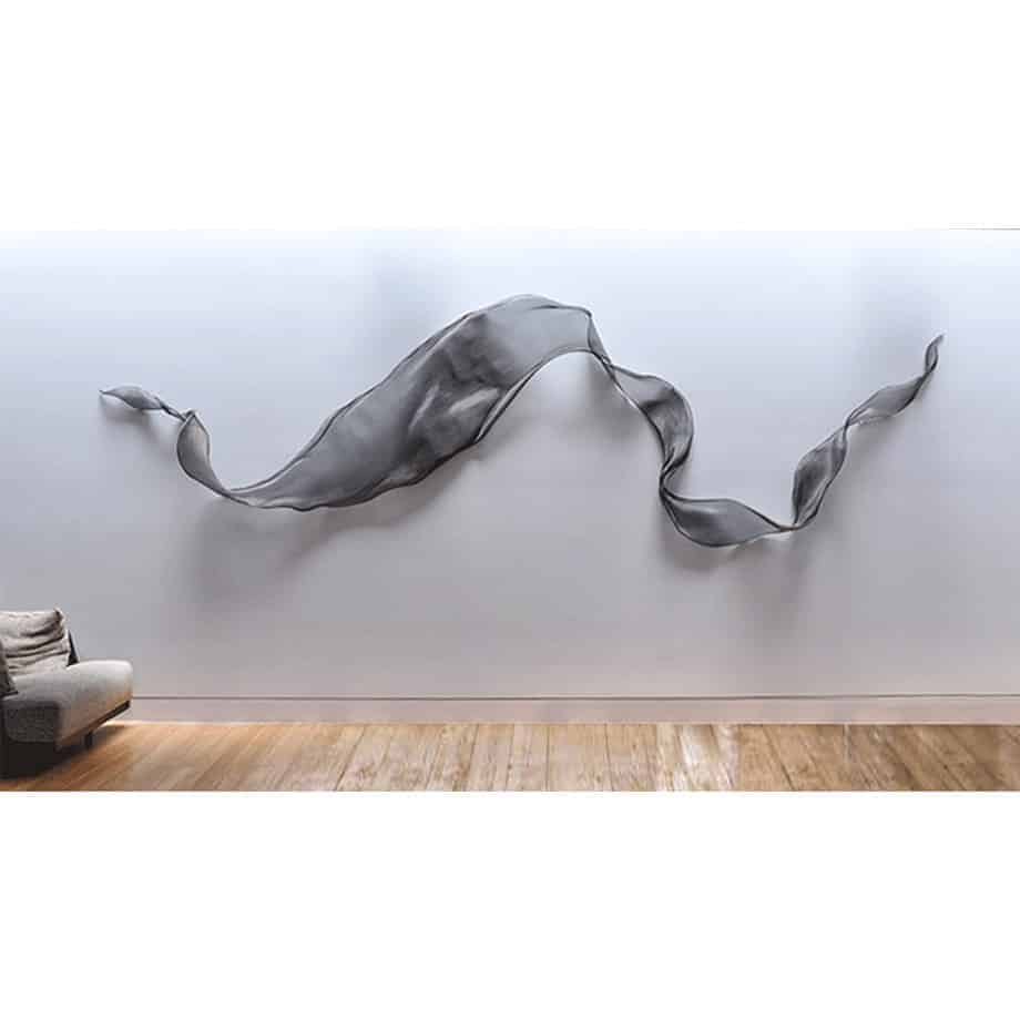 Untitled-Mesh-Large---FORMED-STAINLESS-STEEL-MESH-[stainless-steel,wall-hanging]-MIKE-BAIRD-australian-fabric-flowing-sculpture