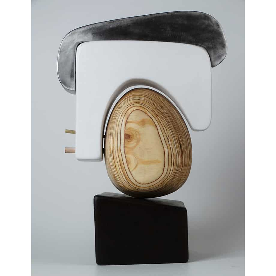 Arch-55cmSTAINLESS-STEEL-PLYWOOD-VENEER[table-top]dDonal-Molloy-Drum-australian-abstract-interior-sculpture-japanese-modern-contemporary-sculpture