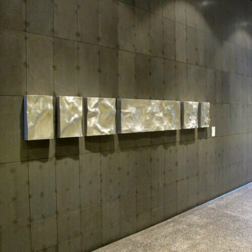 Bas-Relief-Small--HAND-FABRICATED-2mm-ALUMINIUM-[wall-mounted,-stainless-steel]-tony-colangelo,outdoor-relief-walll-sculpture