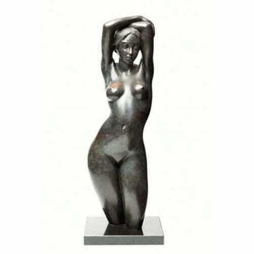 Bather-Torso-72cm-BRONZE-[bronze,table-top,figurative]-phillip-piperidis-nude-sculpture-australian-artist-female-body