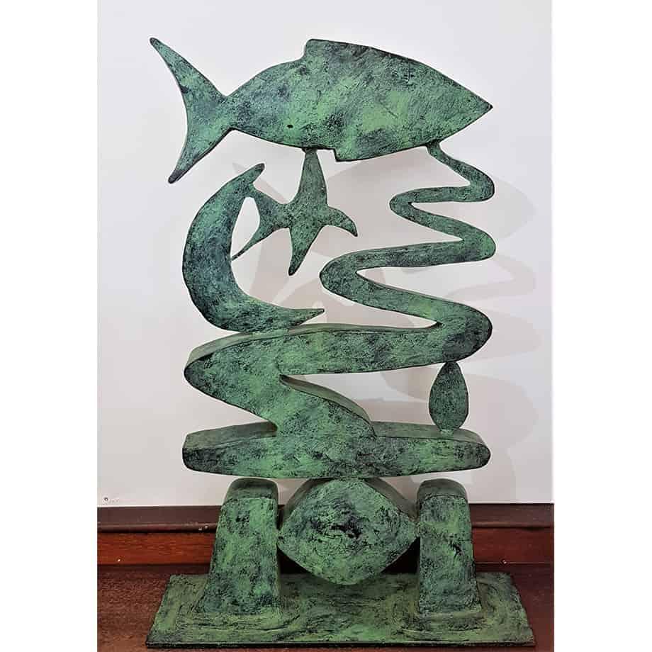 Bungaree-94x65cm MILD-STEEL-WITH-PATINA-[stainless-steel,Table-top]-stephen-Coburn-australian-nautical-sculpture