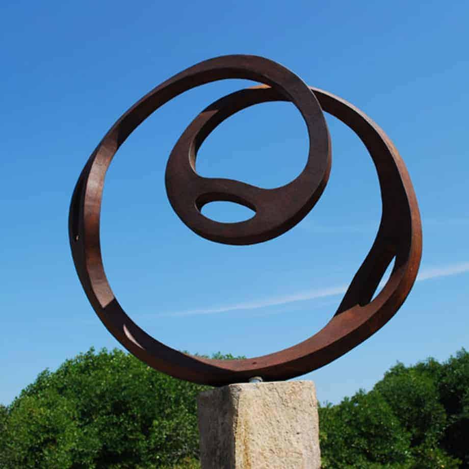Corten-120x120x40cm-CORTEN-STEEL--[Corten,-Outdoor,-Free-standing,Landmark]-CHEN-australian-sculpture-large-twisted-sphere