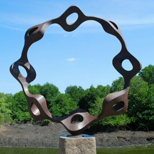 Corten8-200x200x60cm-CORTEN-STEEL--[Corten,-Outdoor,-Free-standing,Landmark]-CHEN-australian-sculpture-large-twisted-sphere