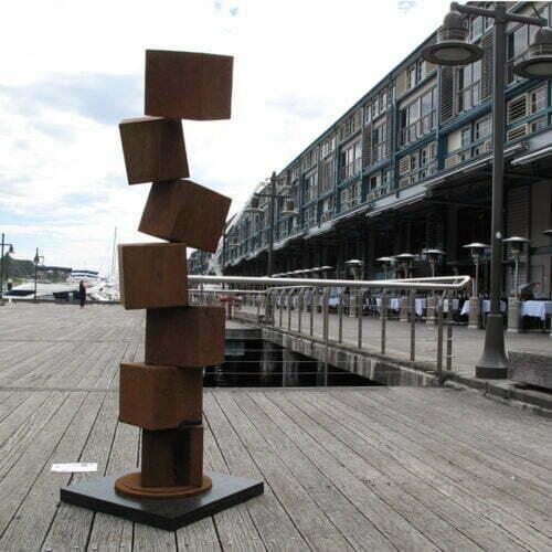 Cubestack-#15-190cmCORTEN-STEEL-[Corten,outdoor,Landmark]-alex-shiebner-australian-sculpture-geometric metal-garden-art-