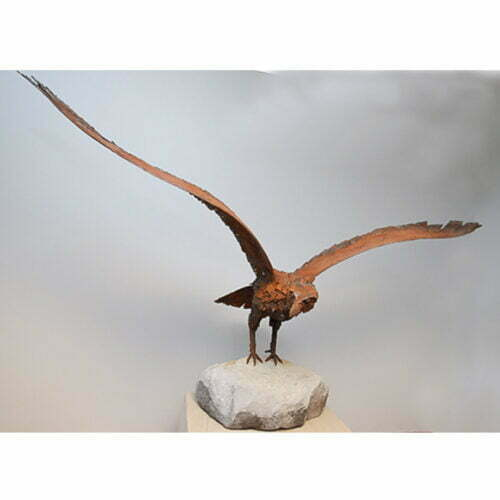 Eagle-in-Flight-170x80cm--BRONZE-[Table-top,Bronze,Figurative]-Matt-Carney-Australian-animal-eagle-Sculpture