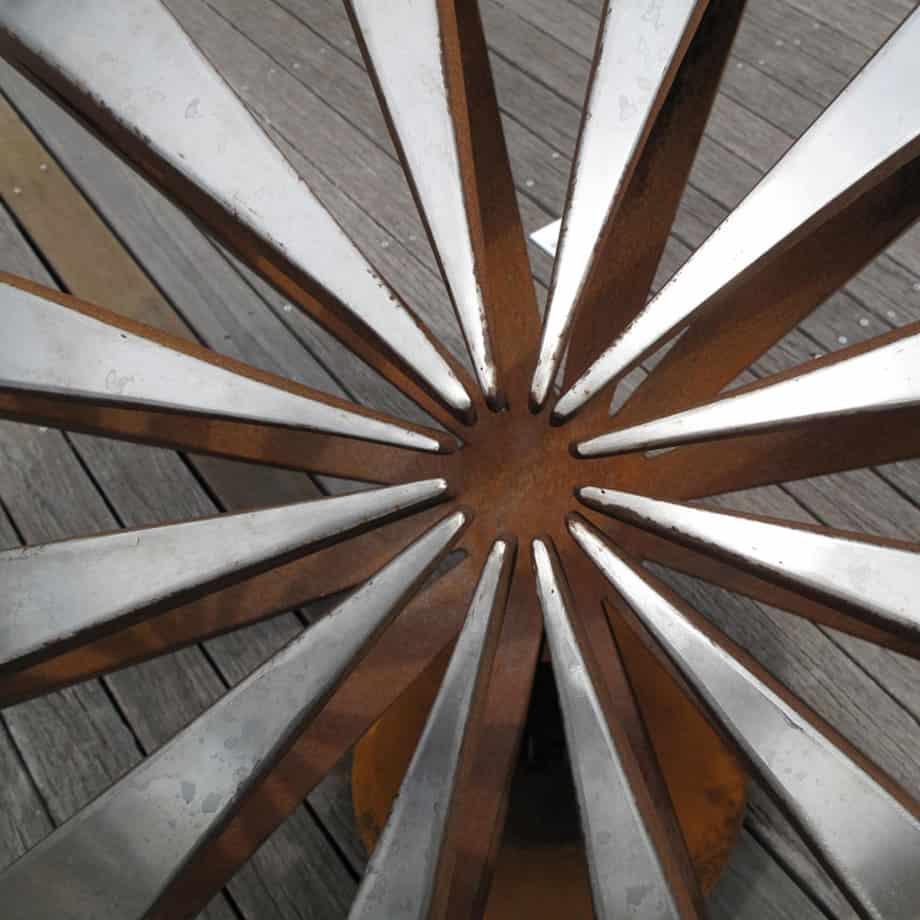 Eclipse-120cm-CORTEN-STAINLESS--100Kg[outdoor, stainless-steel]paul-mutimer-garden-sculpture-out-door-garden-sphere-art