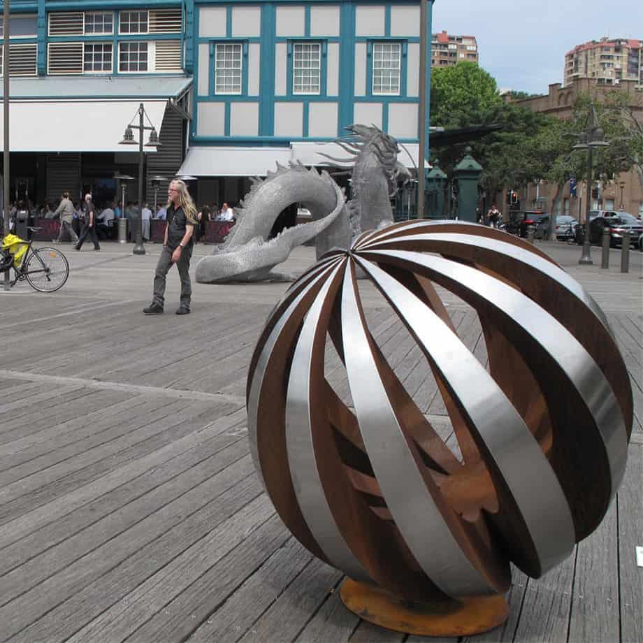 Eclipse-120cm-CORTEN-STAINLESS--100Kg[outdoor,stainless-steel]paul-mutimer-garden-sculpture-out-door-garden-sphere-art