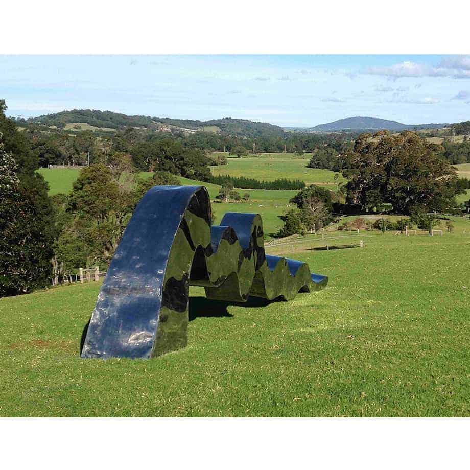 FLOW-Large-800cm-POLISHED--STAINLESS-STEEL-[stainless-steel,landmark]-stephen-Coburn-australian-large-garden-sculpture