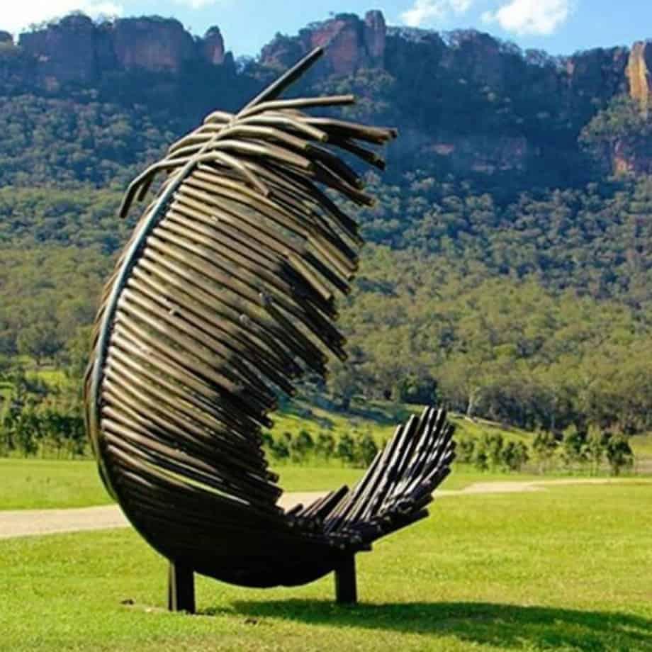 Fallen-Angel-Feather--450cm---FABRICATED-STEEL-PIPE-[outdoor,landmark]-Tobias Benent-australian-sculpture-large-oversize