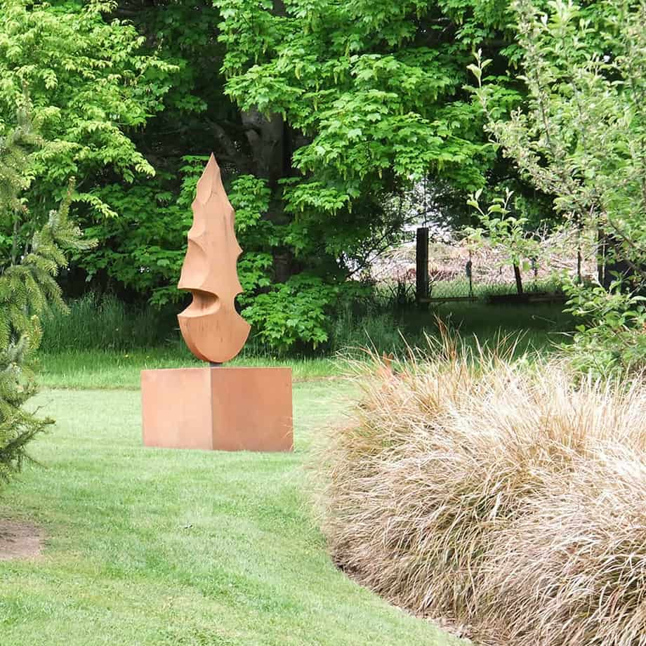 Flint-Tools-Series--Fabricated-Steel-[Outdoor,Corten,-landmark]Kooper-Folko--australian--sculpture-outdoor-garden-art-