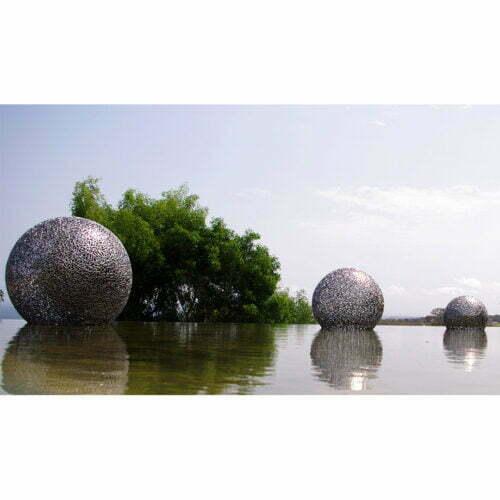 Globe-60,-90,-120cm-STAINLESS-STEEL-[Outdoor,stainless-steel]-Chen-australian-sculpture-garden-pool-design
