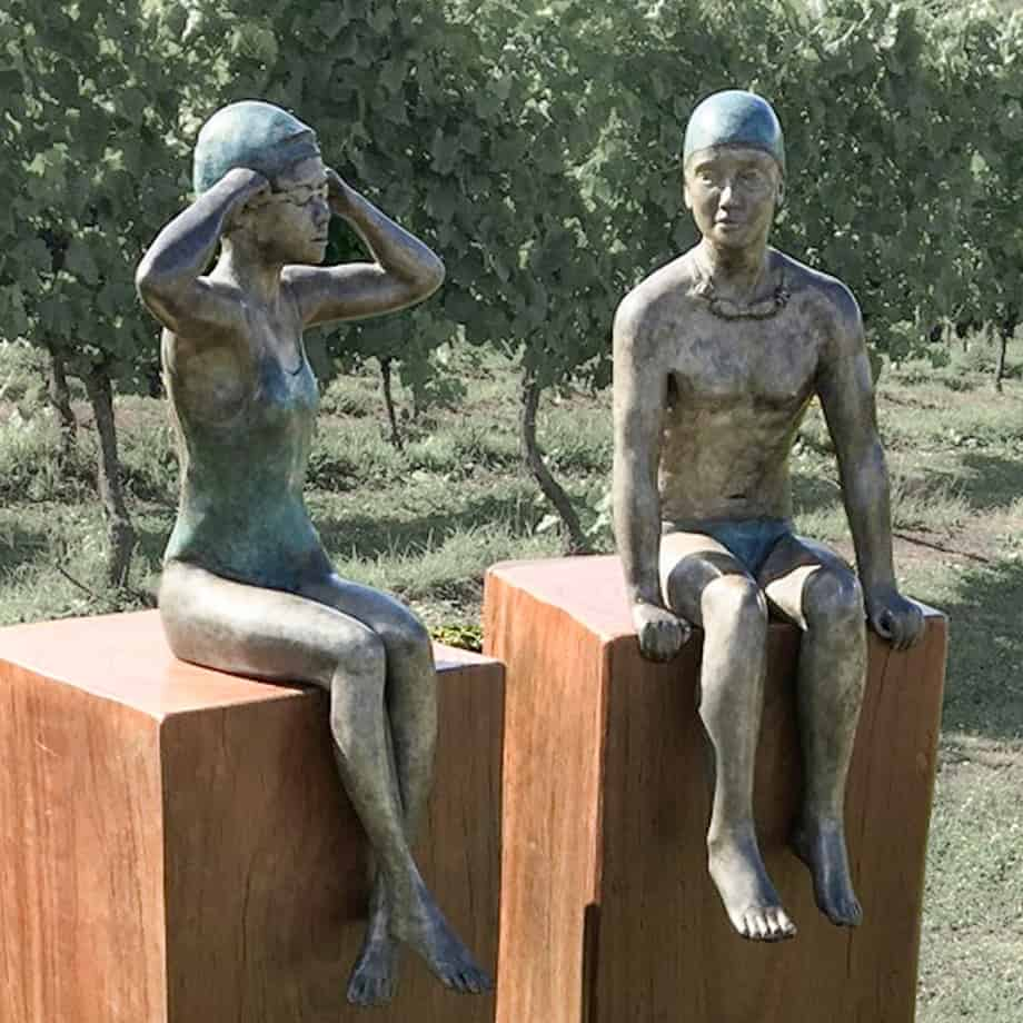 I-knowI-can-fly--55x53cm--limited-to-25-BRONZE-WITH-PATINA-[Table-top,Bronze,-Figurative]-mela-cooke-australian-female-sculpture