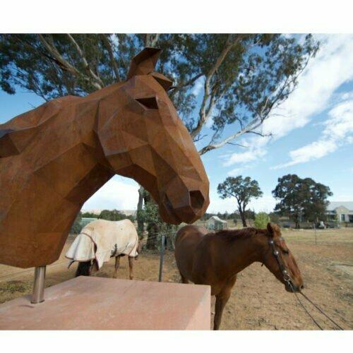 Horse-Head--[corten,-outdoor]-matt-hill-australian-sculpture-horse-outback-garden-sculpture