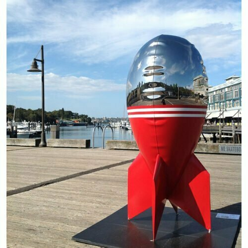 Incendiary--180cm-STAINLESS-STEEL-INDUSTRIAL-COATING-[stainless-steel,-free-standing,outdoor]david-mcCracken-rocket-sculpture-australian-artist-pop-art