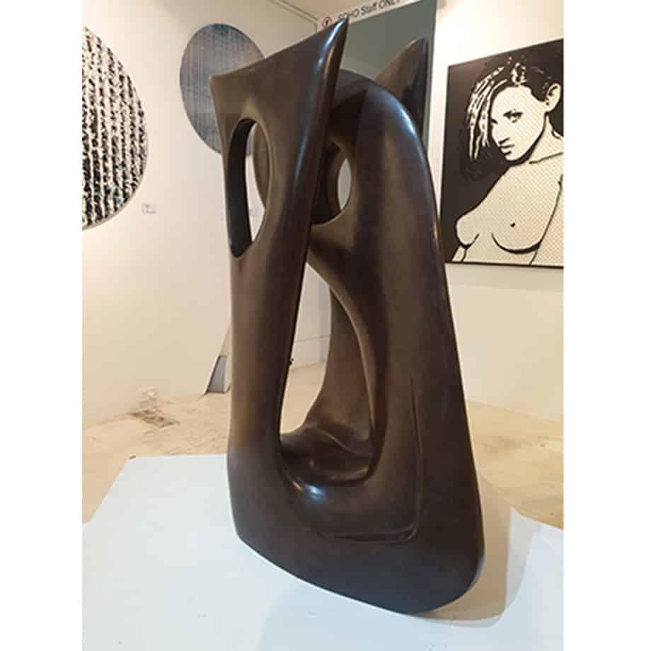 Lacunae-4of6---60x32cm---BRONZE-[bronze,-table-top]-Robin-Holliday-abstract-australian-bronze-scientific--sculpture