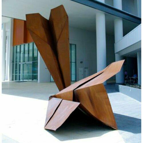 Ace--250x100---CORTEN-[corten,outdoor,landmark]-paper-planes-original-sculpture-australian-art-jonathon-leahy