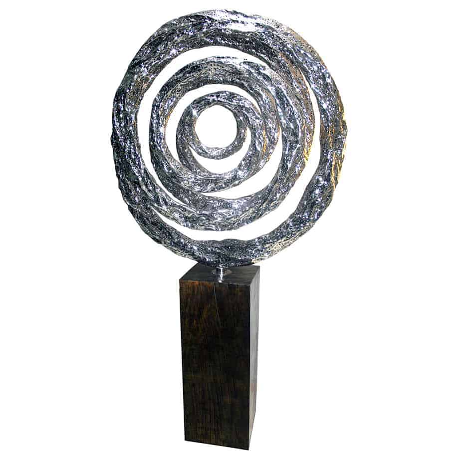 Lava-Coil-6--220x120cm-STAINLESS-STEEL-WITH---TIMBER-STAND-[free-standing,outdoor]-CHEN-australian-sculpture-large-sphere