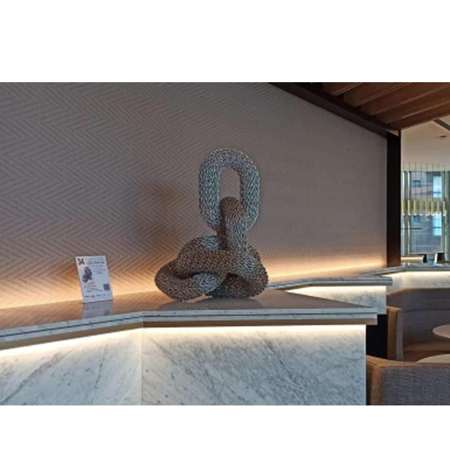 metal garden sculpture, indoor table top sculpture ,chain links