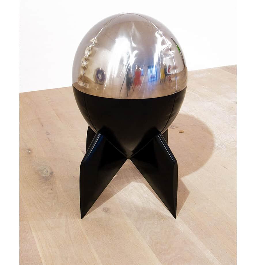 Liston-80cm-STAINLESS-STEEL-INDUSTRIAL-COATING-[stainless-steel,-free-standing,outdoor]david-mcCracken-rocket-sculpture-australian-artist-pop-art