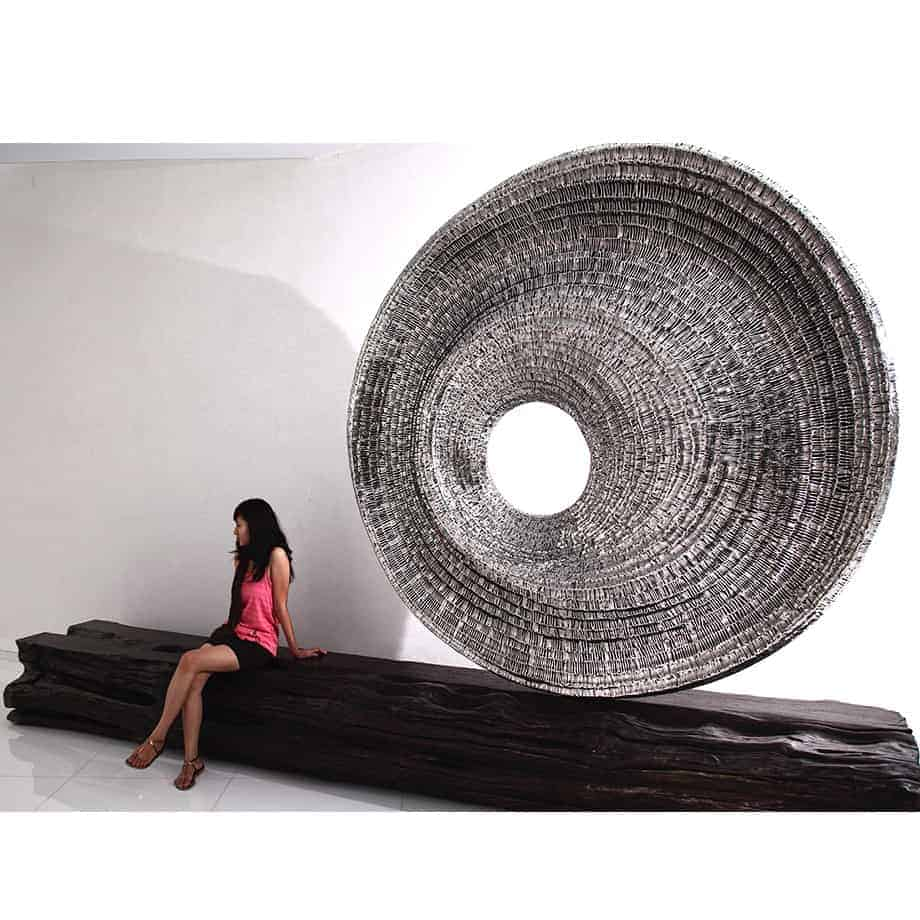 New-Order-300x300x50cm-STAINLESS-STEEL-with-MAIN-LUMBER-SEAT-[Stainless-steel,Outdoor,Free-standing,Landmark]-CHEN-australian-sculpture-large-twisted-sphere
