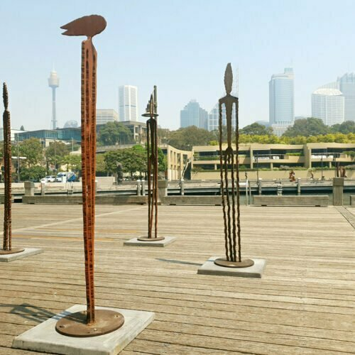 Observers-210cm--CORTEN--[outdoor,landmark,corten,-figurative]Greg--Johns-Australian-garden-sculpture-large-abstract-art