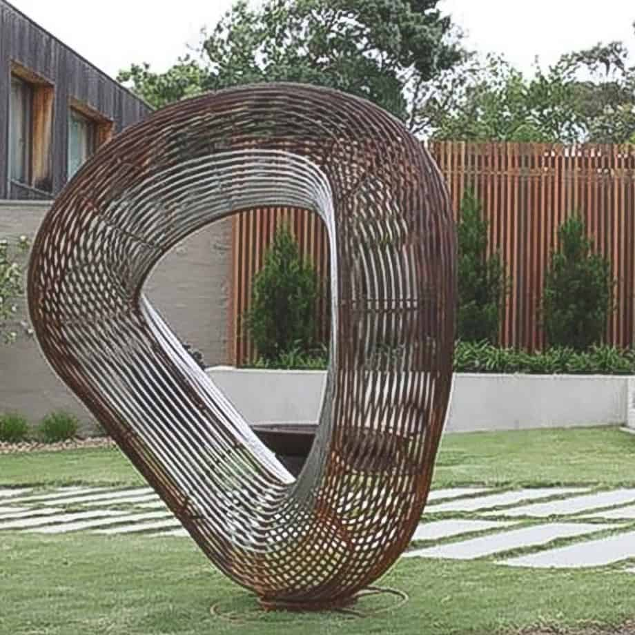 Orb--Offset--1.9m-CORTEN-STEEL-[corten,outdoor]paul-mutimer-garden-sculpture-out-door-garden-sphere-art