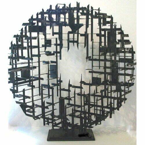 Perfect-Flaw-90x90x20cm-MILD-STEEL-[table-top,-outdoor]-Matt-Carney-Australian-Moon-Sphere Sculpture