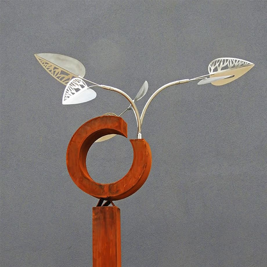 Pod-[series]--STAINLESS--CORTEN-[stainless,outdoor,-free-standing]-Rudi-Jass-australian-garden-leaves-sculpture-natural-native-australia