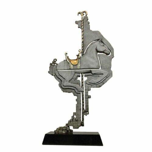 Quater-Horse-55cm--BRONZE-[bronze,-table-top]-Stephen-Glassborow-australian-sculpture-horse-circus--bronze