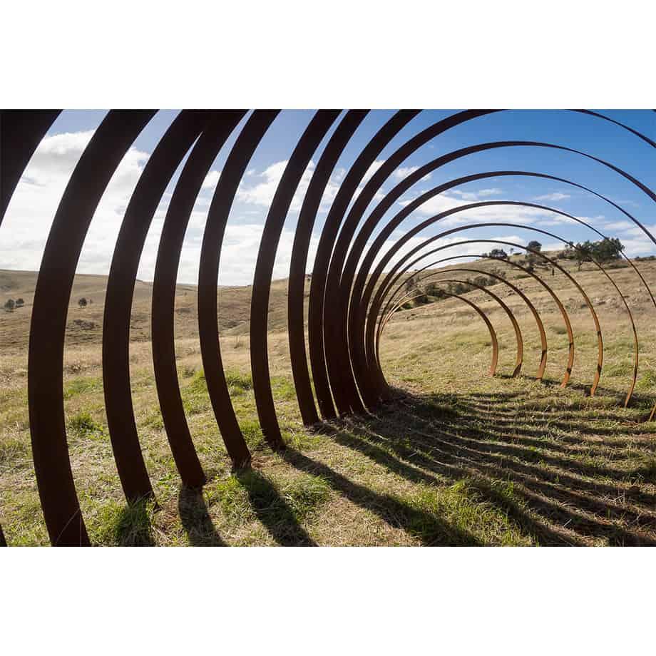 Rhythm-Underground-5mx2m---CORTEN-STEEL-[Landmark]-Astra-Parker-extra-large-scale-sculpture-australian-artist-outdoor--art
