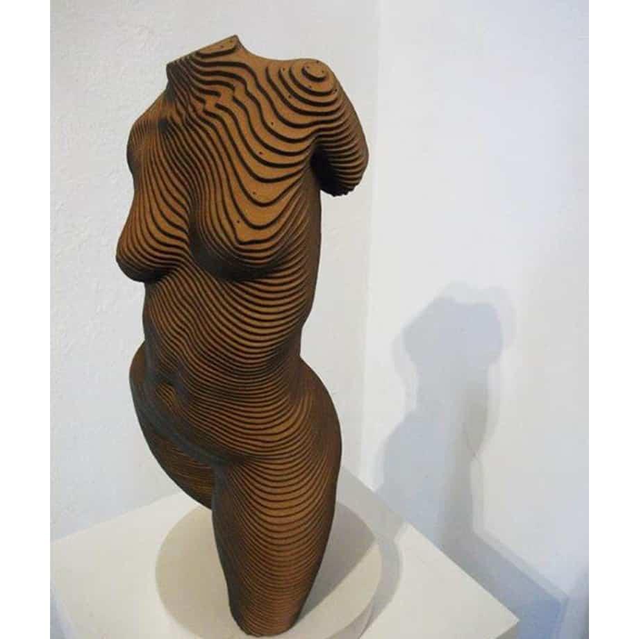 Roxie-Timber-45x20cm-TIMBER--LASER-CUT-[table-top,figurative]Olivier-Duhamel-female-body-sculpture-nude-wood-form-australian