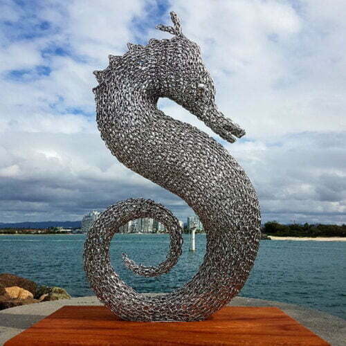 marine, fish sculpture, large scale outdoor metal art