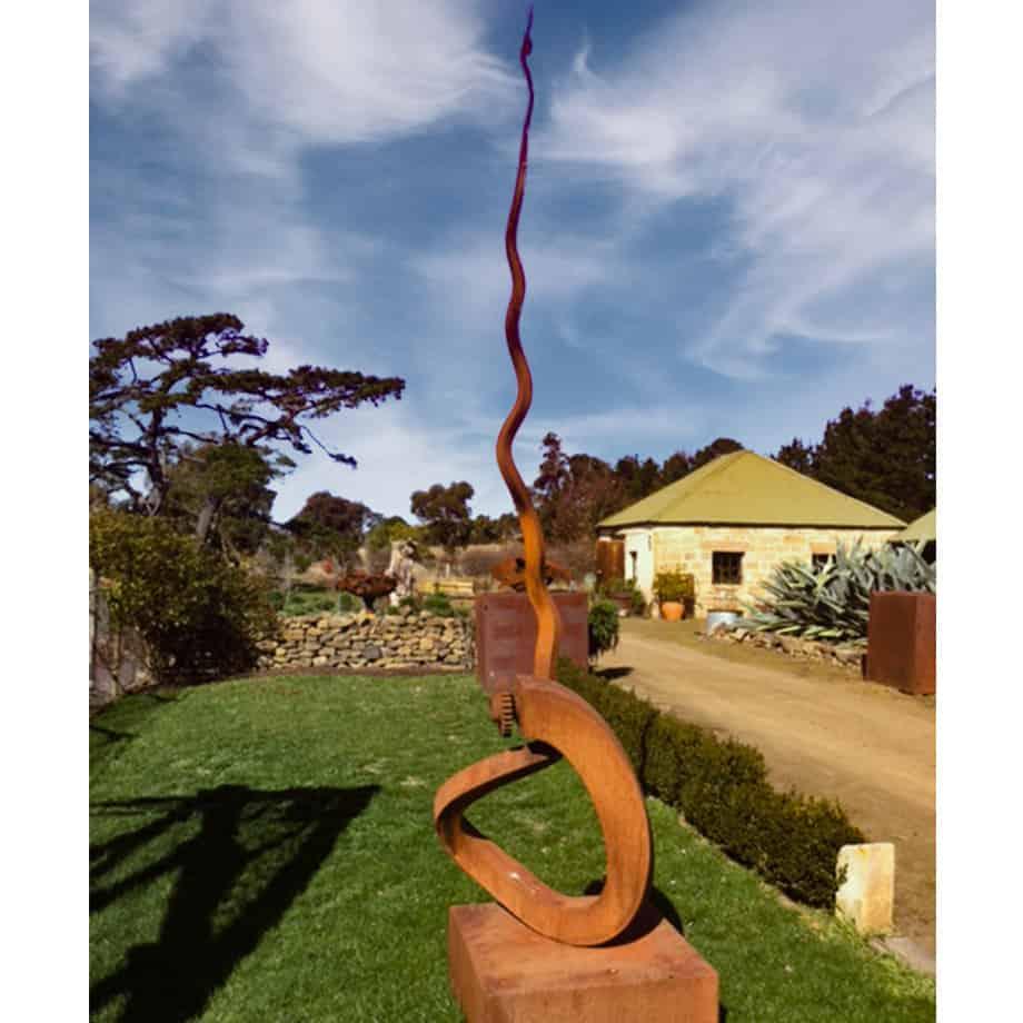 Spiral-360cm--Fabricated-Steel-[Outdoor,Corten]Kooper-Folko--australian--sculpture-outdoor-garden-art-spire