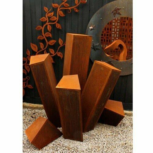 Steel-Pines-180cm--CORTEN-[Corten,outdoor,]Pierre-Le-Roux-australian--sculpture-outdoor-drive-way-entry-art-garden