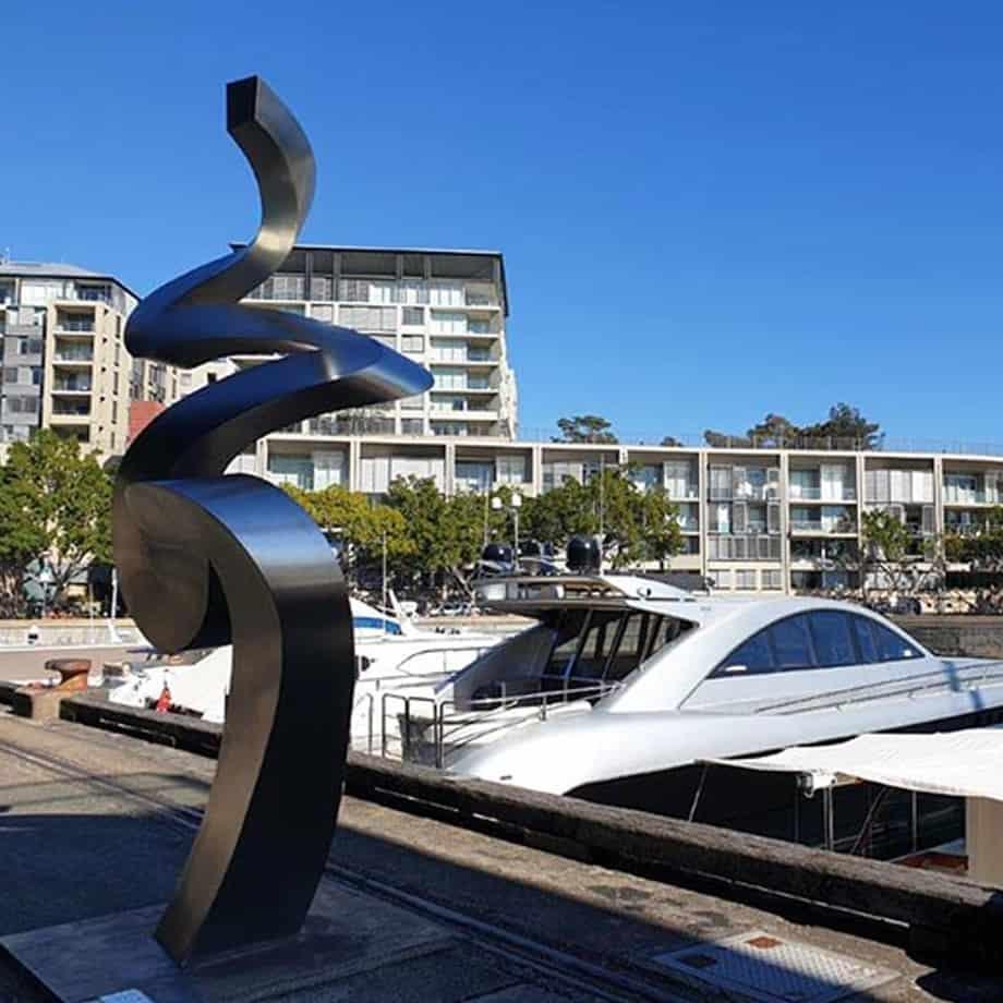 Tranquility-limited-to-6--252x113cm-STAINLESS-STEEL-[stainless-steel,landmark,outdoor]Andrew-Kasper--outdoor-abstract-spiral-garden-sculpture-australian-sculptor