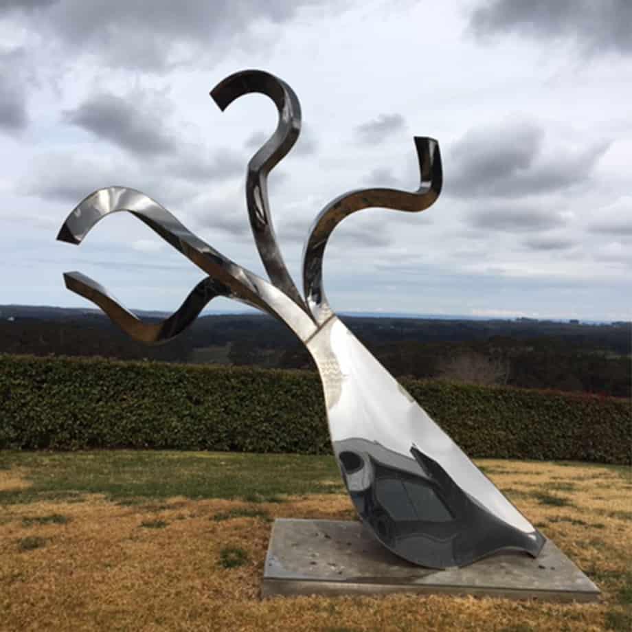 Tetrapus-330x200cm-FABRICATED-POLISHED-STAINLE-[Outdoor,-stainless-steel,-landmark]-bert-flugelman-original-australian-garden-nautical-sculpture