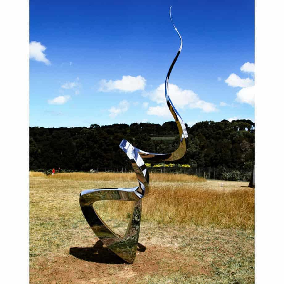 Twist-&-Pop-360x120cm--FABRICATED-POLISHED-STAINLE-[Outdoor,-stainless-steel,-landmark]-John-fitzmaurice-original-australian-garden-sculpture