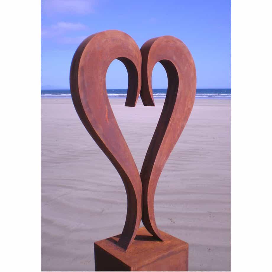 Two-of-us--200x70cm-limited-to-9-CORTEN-STEEL-[Corten,outdoor]Andrew-Kasper-outdoor--garden--love--sculpture-australian-sculptor