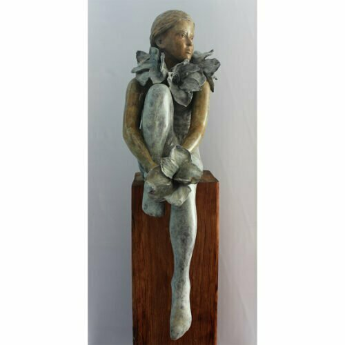 Urban-Botanica-100x40cm--4of8--BRONZE-WITH-PATINA-[Table-top,Bronze,-Figurative]-mela-cooke-australian-female-sculpture