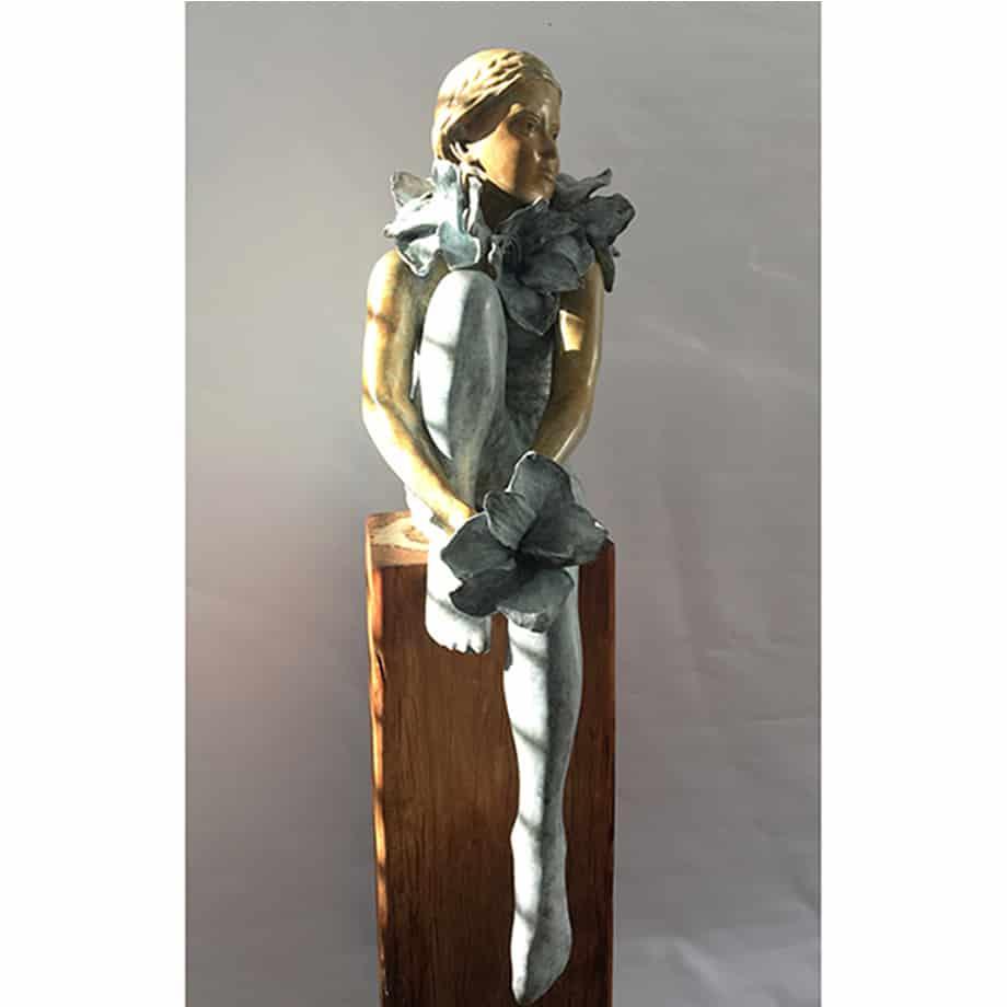 Urban-Botanica-100x40cm--4of8--BRONZE-WITH--PATINA-[Table-top,Bronze,-Figurative]-mela-cooke-australian-female-sculpture