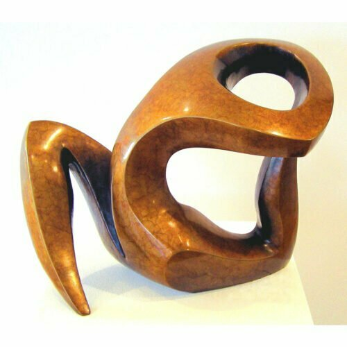 Venus-Rising-4of10-26x25cm--BRONZE-[tabletop,bronze,figurative]michael-vaynman-sculpture-australian-female-figure-bronze-art