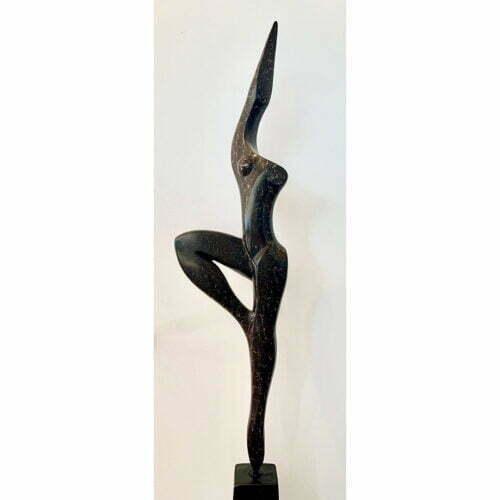 Victory-115cm-BRONZE-[tabletop,freestanding,bronze,figurative]michael-vaynman-sculpture-australian-female-figure-bronze-art